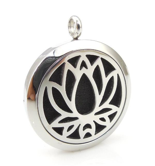 Essential Oil Diffuser Necklace Lotus Flower 1 Woodfloriacomau