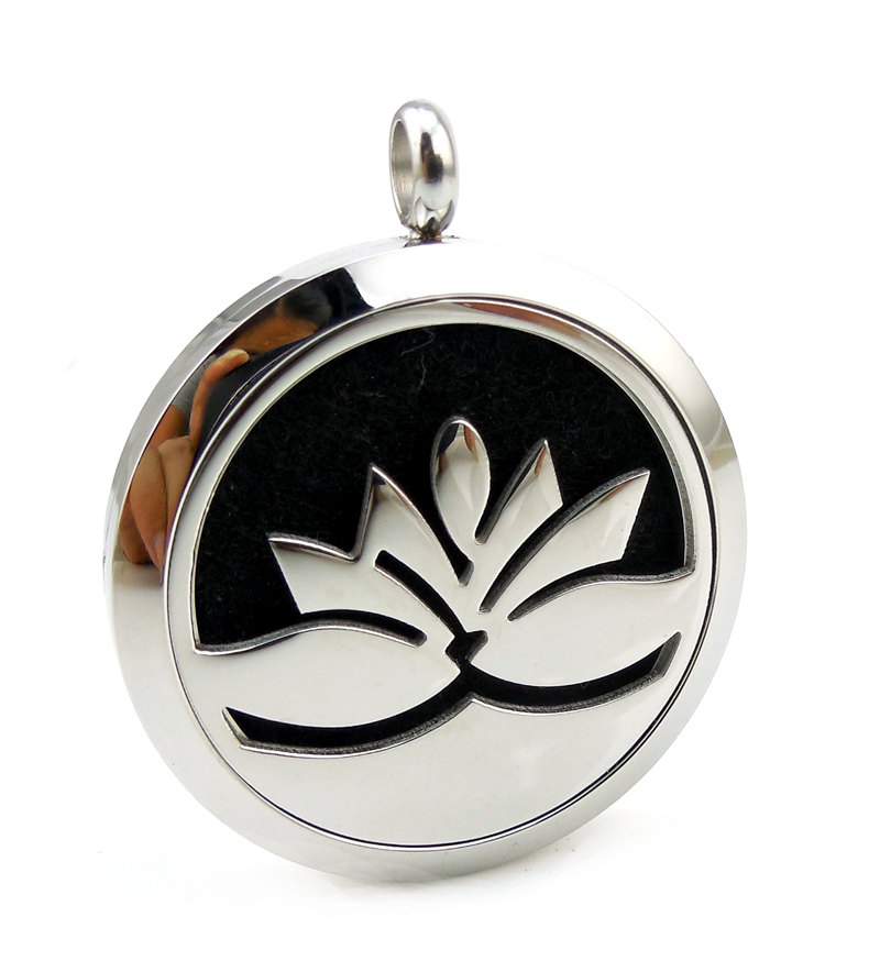 Essential Oil Diffuser Necklace Lotus Flower 2 Woodfloriacomau